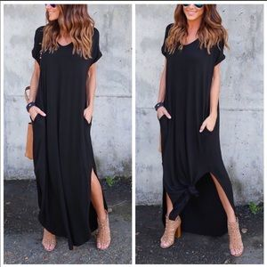 NWT! Oversized Loose Fit Maxi Dress, Size Small